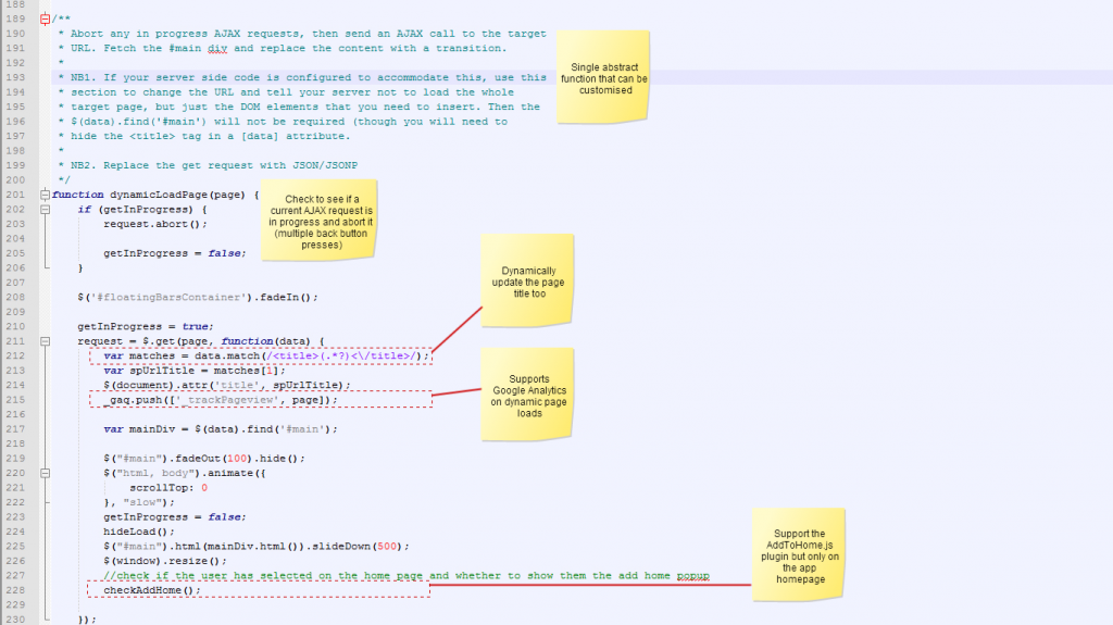 Annotated code screenshot