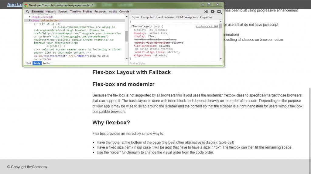 Flexbox Layout screenshot